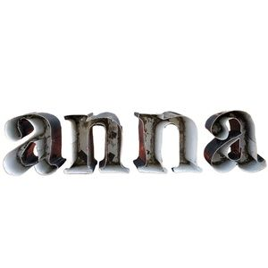 *anna*Industrial Metal Letter Art or Craft project